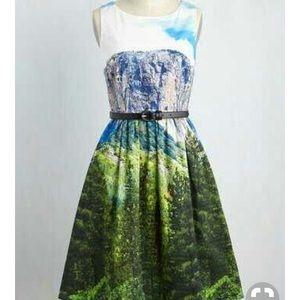 Size 1x Mountain Scene Dress
